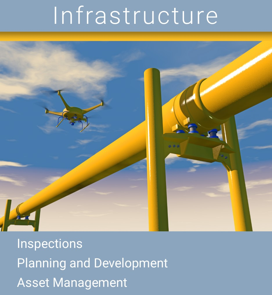 Infrastructure Drone, Inspection Drone, Planning and Development Drone, Asset Management Drone